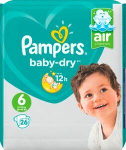 Pampers BabyDry Extra Large 26er Gr. 6 26 Stück