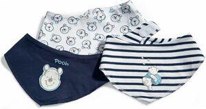 Disney Winnie the Pooh - Baby Lätzchen, 3er Pack, Jungen - weiß + blau ...