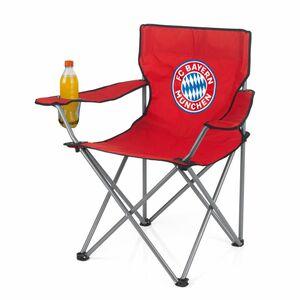 FCB Campingstuhl faltbar 80x50cm rot mit Logo