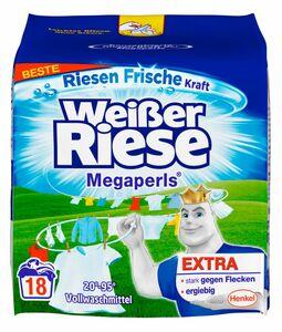 Weißer Riese Vollwaschmittel Megaperls 18 Waschladungen