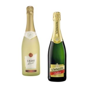 Söhnlein Brillant Sekt, Faber Sekt halbtrocken, Light Live Sekt oder Wein