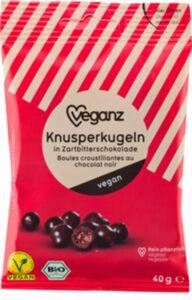 Bio Veganz Knusperkugeln in Zartbitterschokolade 40g