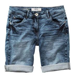 CECIL             Jeans-Shorts, Waschung, umgeschlagener Saum