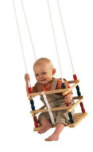 Baby-Gitterschaukel Holz