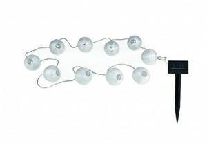 EASYmaxx Solar-Lichterkette Lampions ,  10 LED, warmweiß