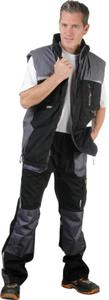 Bundhose mit Reflektor, Arbeitshose, Fare schwarz/grau