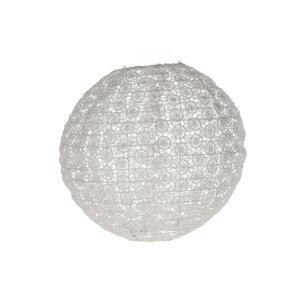 XXXL LAMPION Weiß Metall, Textil