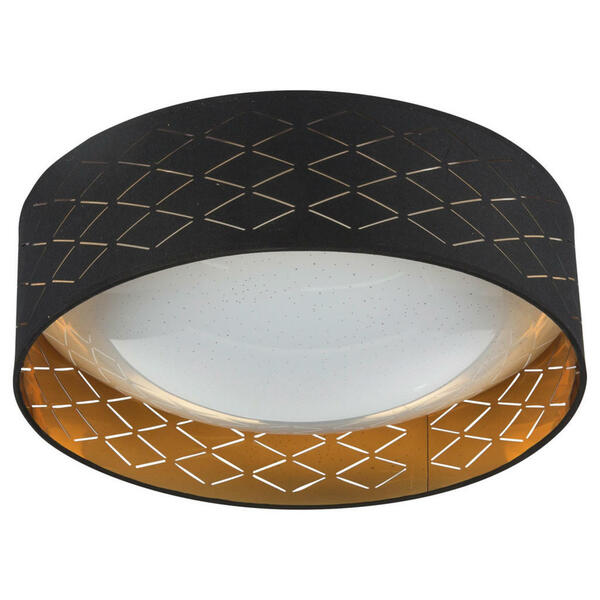 XXXL LED-DECKENLEUCHTE, Gold, Schwarz