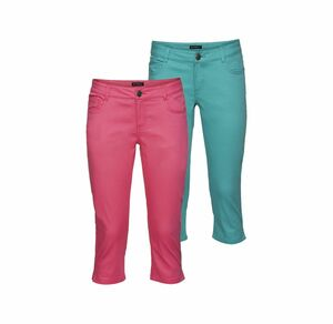Laura Torelli COLLECTION Damen-Caprihose in trendigen Sommerfarben