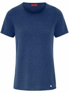 Rundhals-Pullover aus 100% Kaschmir Laura Biagiotti Donna blau