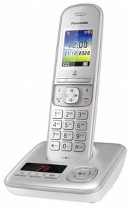Panasonic schnurlos Telefon KX-TGH720GG ,  mit Anrufbeantworter, silber