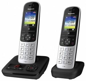 Panasonic schnurlos Telefon KX-TGH722GG ,  mit Anrufbeantworter, schwarz, zusätzliches Mobilteil