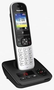 Panasonic schnurlos Telefon KX-TGH720GS ,  mit Anrufbeantworter, schwarz