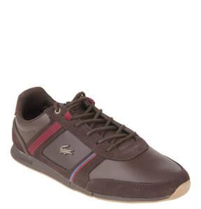 """LACOSTE             Sneaker """"Menerva"""", Leder, Kontraststreifen, Logo-Emblem"""