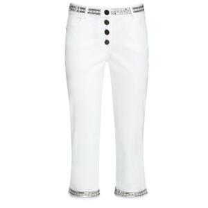 3/4 Damen Slim-Jeans mit Pailletten