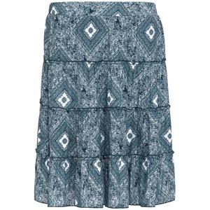 Damen Stufenrock mit Allover-Print