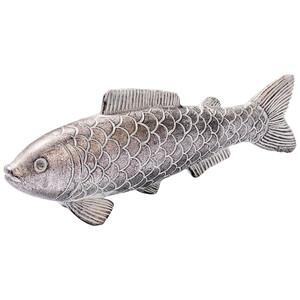 Deko-Fisch in Silber-Optik