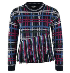 "Pepe Jeans             Pullover ""Tina S"", Strick, kariert, Fransen-Applikation"