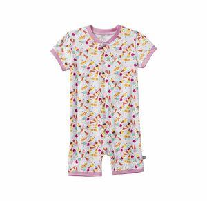 Liegelind Baby-Mädchen-Schlafanzug mit Eiscreme-Muster