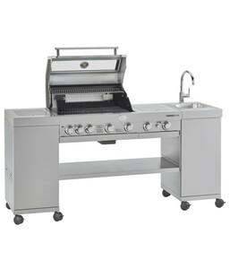 Rösle Gasgrill BBQ-Kitchen Videro G4-SK, Edelstahl