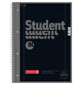 BRUNNEN             Collegeblock A4, liniert 27, schwarz                 (2 Stück)