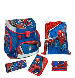 Scooli             Spider-Man Campus Fit Schulranzen Set, 5-teilig