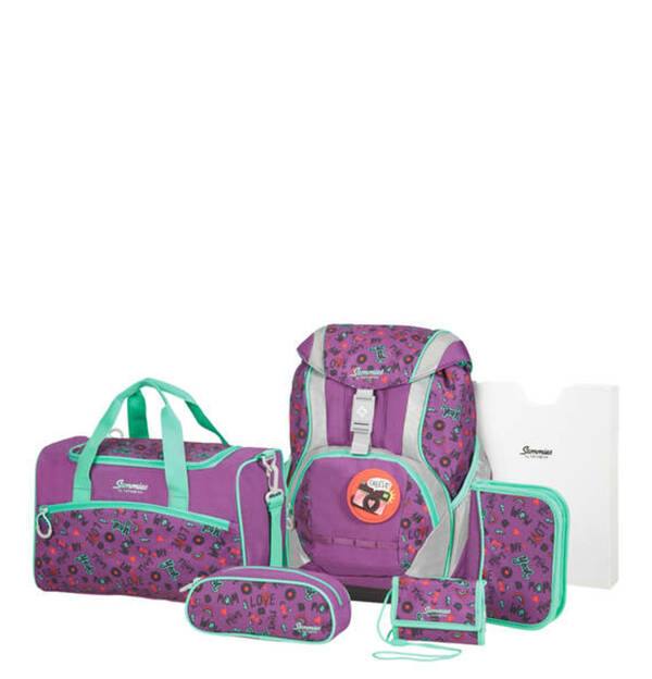 Sammies by Samsonite             ERGOFIT Schulranzen-Set Doodle Purple
