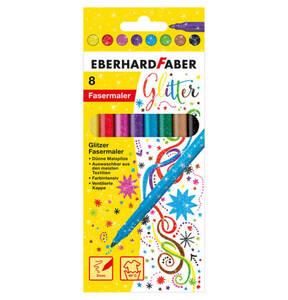 EBERHARD FABER        Glitter Fasermaler 8er