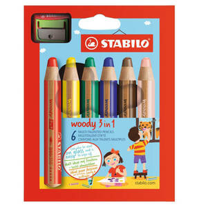 STABILO             woody 3 in 1 mit Spitzer