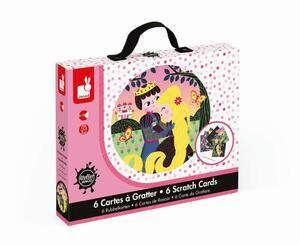 Janod Kreativ-Koffer Rubbelkarten Rapunzel