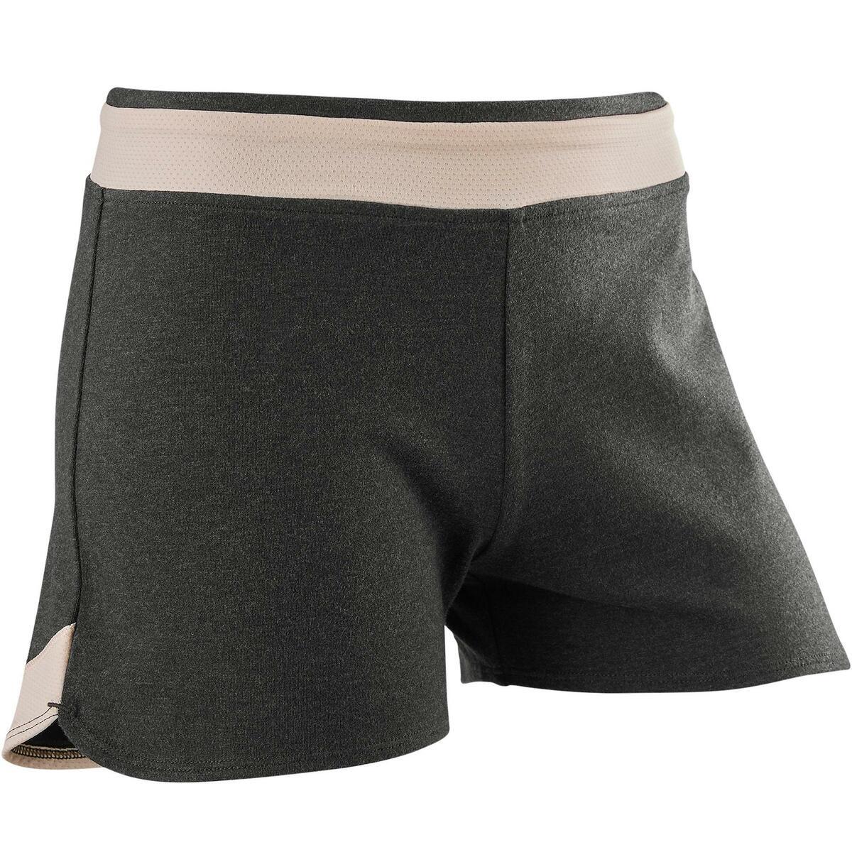 Bild 1 von Sporthose kurz Baumwolle atmungsaktiv 500 Gym Kinder grau bedruckt