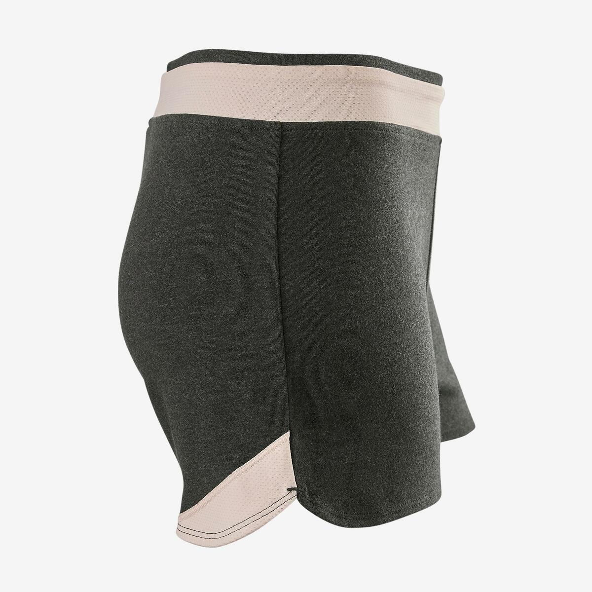 Bild 2 von Sporthose kurz Baumwolle atmungsaktiv 500 Gym Kinder grau bedruckt