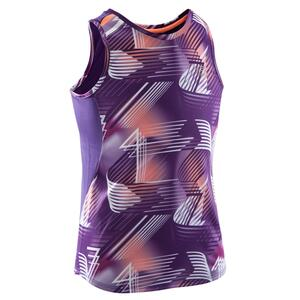 Lauftop Run Dry+ Mädchen violett mit Muster