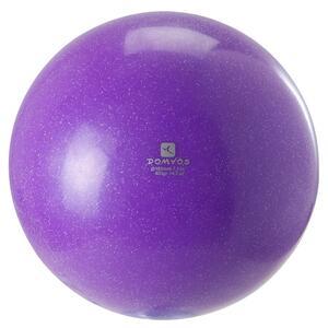 Gymnastikball 185 mm Pailletten violett