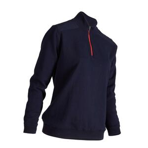Pullover Zip Golf warm Windstopper Damen marineblau