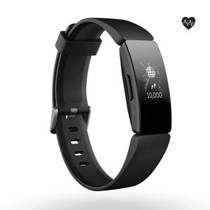 Fitnessarmband Inspire HR mit Herzfrequenzmessung am Handgelenk schwarz