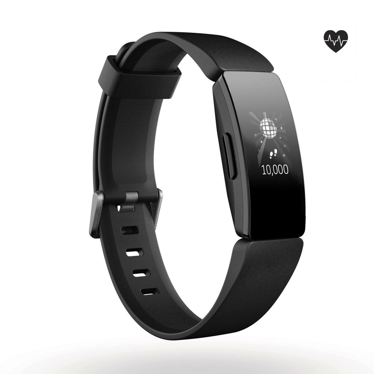 Bild 1 von Fitnessarmband Inspire HR mit Herzfrequenzmessung am Handgelenk schwarz