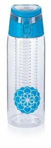 Trinkflasche mit Infuser, 750ml, blau