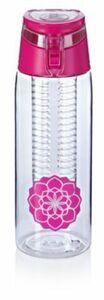 Trinkflasche mit Infuser, 750ml, pink