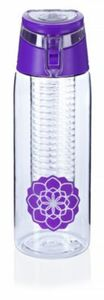 Trinkflasche mit Infuser, 750ml, lila