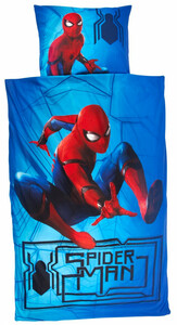 "Kinder-Bettwäsche ""Spiderman"", blau"