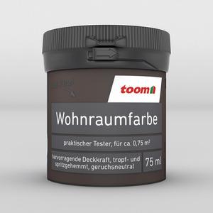 toom Wohnraumfarbe 'Dunkelbraun' 75 ml matt