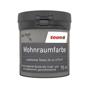 toom Wohnraumfarbe 'Steingrau' 75 ml Tester matt