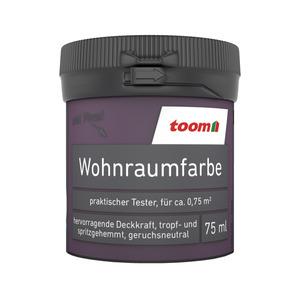 toom Wohnraumfarbe 'Purpur' 75 ml Tester matt