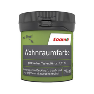 toom Wohnraumfarbe 'Grasgrün' 75 ml Tester matt