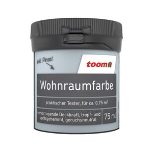 toom Wohnraumfarbe 'Zartblau' 75 ml Tester matt