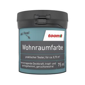 toom Wohnraumfarbe 'Azurblau' 75 ml Tester matt