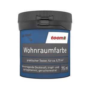 toom Wohnraumfarbe 'Aquablau' 75 ml matt