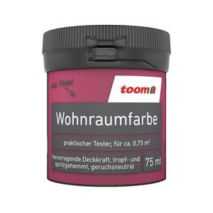 toom Wohnraumfarbe 'Fuchsia' 75 ml Tester matt
