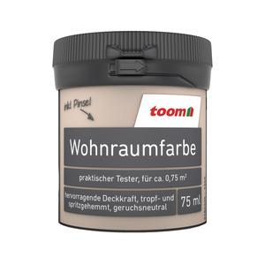 toom Wohnraumfarbe 'Kaschmir' 75 ml Tester matt